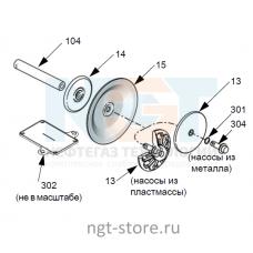 Ремкомплект диафрагм Husky 1050 TP