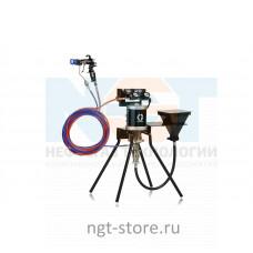 Mini Merkur ES 30:1 окрасочный аппарат стойка, пл. сталь, бункер Graco
