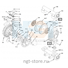 Ремкомплект жидкостной части Husky 1590 BN,BN,BN