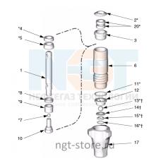 Ремкомплект поршневого насоса Reactor E-10, E10HP Graco  (Грако)