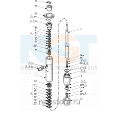 Ремкомплект насоса для MERKUR 36:1 100CC Graco