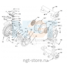 Ремкомплект жидкостной части Husky 1590 SS,HS,PTFE