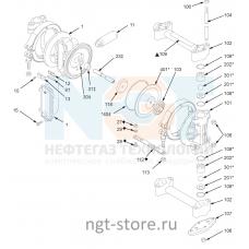 Ремкомплект жидкостной части Husky 307 AC, BN, BN