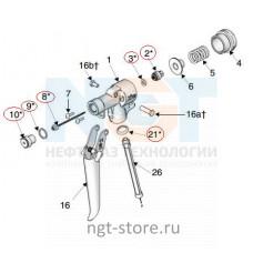 Ремкомплект к пистолет-распылитель XTR500 для MERKUR 23:1 Graco