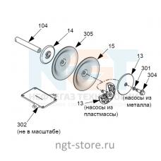Ремкомплект диафрагм Husky 1050 PS