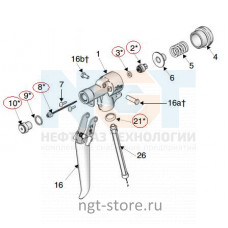 Ремкомплект к пистолет-распылитель XTR500 для MERKUR 24:1 Graco
