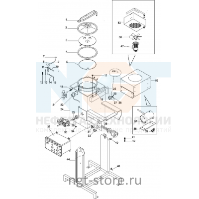 Детали и запасные части Di120AX, Di160AX Formeco
