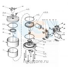 Ремкомплект уплотнений для MERKUR 36:1 MOTOR 7.5 Graco