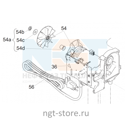 Двигатель 230 B для GRACO 190 CLASSIC PC,STAND Hi-Boy Грако