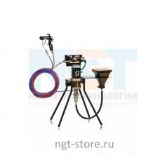 Mini Merkur ES 15:1 окрасочный аппарат стойка, пл. сталь, бункер Graco